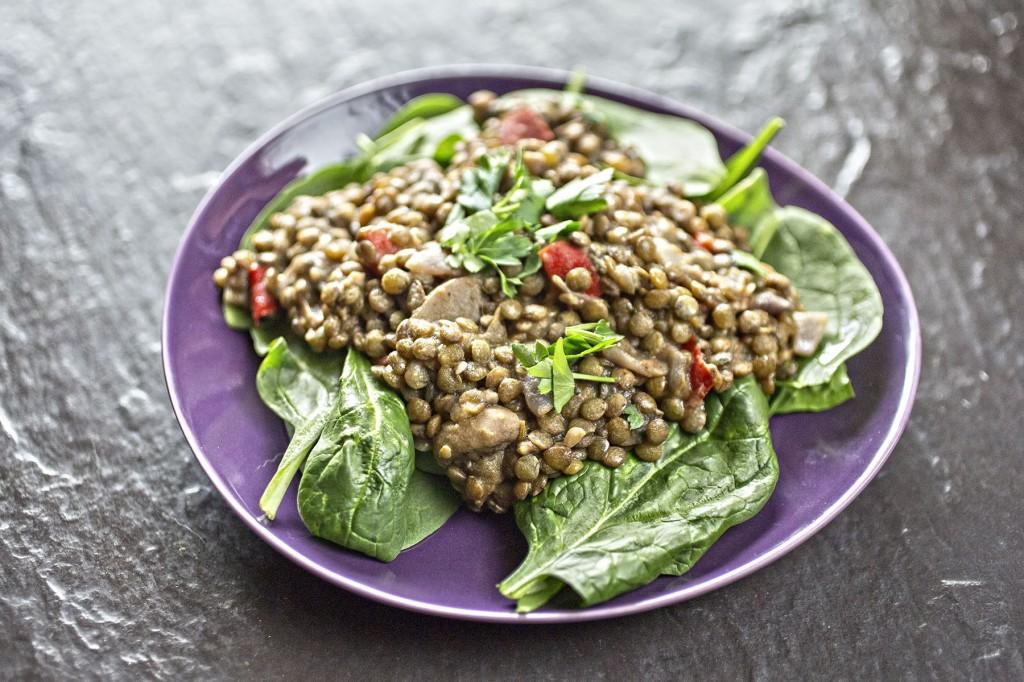 Side of the month: Warm lentil salad recipeLaura's Wild Kitchen